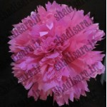 گل توپی کاغذی متناسب با طرح  باربی