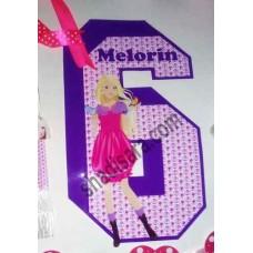 عدد سال تولد چاپی با طرح باربی