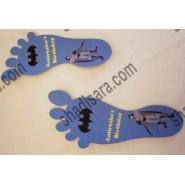 batman birthday foot print design