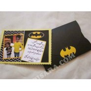 Bat man  invite card