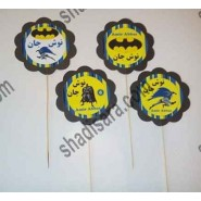 batman birthday toppers for food
