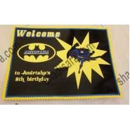 batman birthday welcome banner