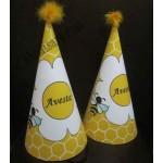 کلاه تولد چاپی زنبوری