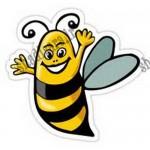 استیکر تولد زنبوری