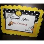 آویز تشکر تولد زنبوری