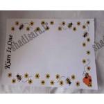برگه یادداشت یادگاری تولد زنبوری