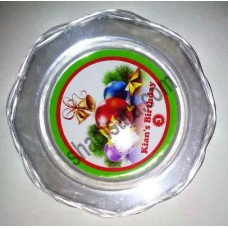 food plate  for christmas party decoration