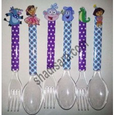 knife and spoon and fork for dora birthday party