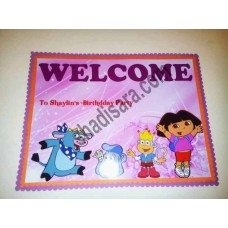 welcome banner for dora birthday  party decoration