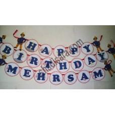 happy birthday banner for fireman  birthday party decoration