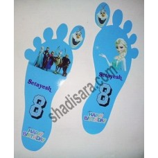 frozen birthday foot print design