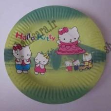 بشقاب غذا خوری مقوایی تولد هلو کیتی