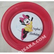 Minnie mouse  cake design plate