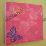 دستمال کاغذی با طرح  پروانه