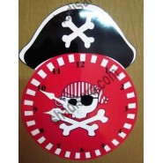 birthday fantastic paper clock with pirate theme