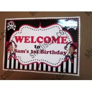 welcome banner for pirate birthday party theme