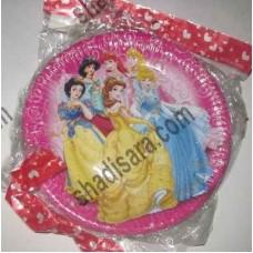 یشقاب کیک مقوایی تم پرنسس