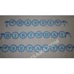 Smurfs Happy birthday party wall banner