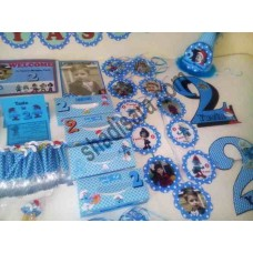 smurfs birthday decoration pack