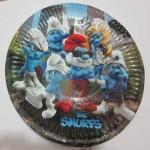 Smurfs  cake plate  for birthday