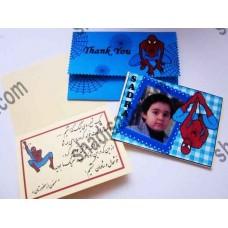 کارت تشکر تولد مرد عنکبوتی