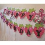 ریسه تولد مبارک توت فرنگی