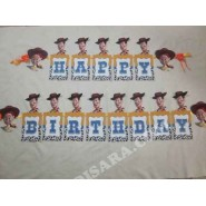 Toy story party wall banner