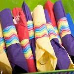 حلقه دستمال کاغذی رنگین کمان