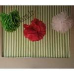 گل توپی کاغذی تولد توت فرنگی